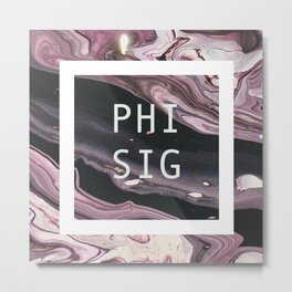 phi sigma sigma marble Metal Print