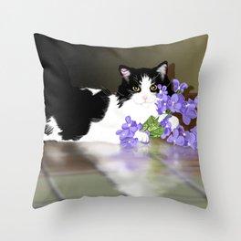 Cherokee Kitty Throw Pillow