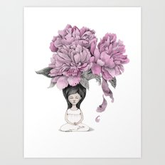 Meditation moment Art Print