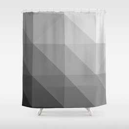 Graphite low-poly Shower Curtain