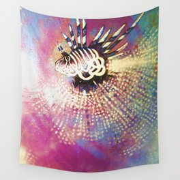 """""""Night Lion"""" Deep Sea Creature Painting , American contemporary wall Art, prints, canvas decor Wall Tapestry"""