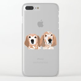 Molly and  Elwood Clear iPhone Case