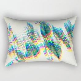 Botanical Flower Glitch III Rectangular Pillow
