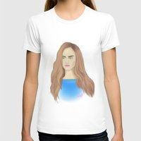 cara delevingne T-shirts featuring Cara Delevingne by Ira Lapshina