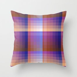 Complimentary Color Harmony ..Blue/orange Throw Pillow