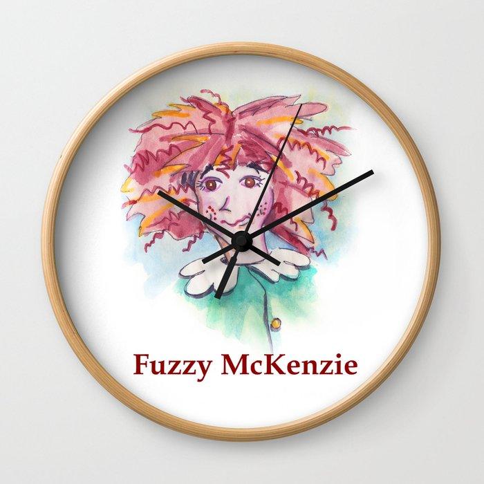 Fuzzy McKenzie Wall Clock