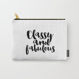 Girls Room Decor Girly Gifts Fashion Wall Art Printable Women Gift Fashion Art Fashion Print Quotes Carry-All Pouch