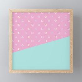 Gamer Girl - Pastel Playstation Controller Buttons Framed Mini Art Print