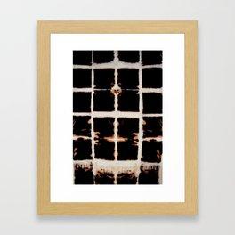 "Patrón ""Bleaching"" Framed Art Print"