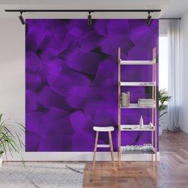 Translucent Stripes of Purple Ribbon Wall Mural