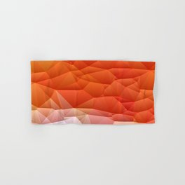 Quilted Pattern Orange Texture Abstract Hand & Bath Towel