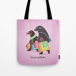 Shopping Moles Tote Bag