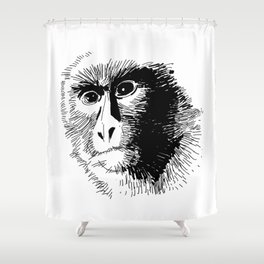 The Monkey! Shower Curtain