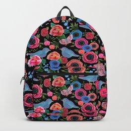 Mod floral bright & butterflies & birds Backpack