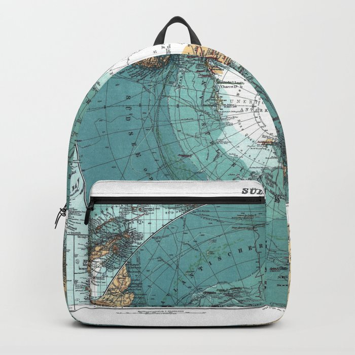 Antarctica Vintage map Backpack