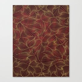Tangles Red and Gold Canvas Print