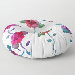 Vibrant Roses Floor Pillow