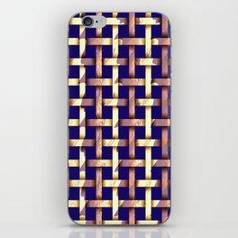 Brown weaved pattern iPhone Skin