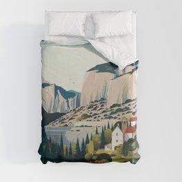 Alone in Nature - Les Cévennes Duvet Cover