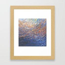 Illuminated Ocean Waves at Sunset Framed Art Print