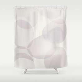 "Soft abstract shapes, ""Valeria"" Shower Curtain"