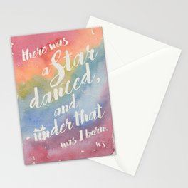 There was a star danced Stationery Cards