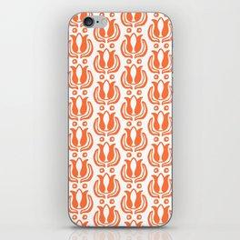 Tulip Pattern Orange iPhone Skin