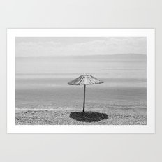 Sun Umbrella at Lake Ohrid Art Print