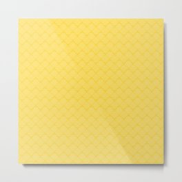 Yellow geometric pattern Metal Print
