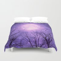 tolkien Duvet Covers featuring May It Be A Light (Dark Forest Moon II) by soaring anchor designs