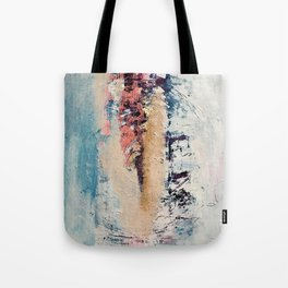 Artemis: A pretty, minimal, abstract mixed media piece in blue, gold, pink, purple, and white Tote Bag