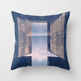 Room -A- Post Biological Era Throw Pillow