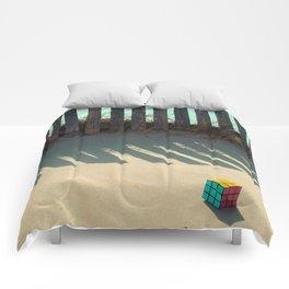 Rubik shading in the beach Comforters
