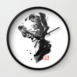 HU DOG Wall Clock