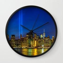 Tribute in Light. New York City Wall Clock