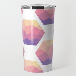Low poly hexagons Travel Mug