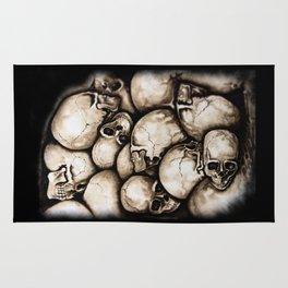 Skulls sepia Rug