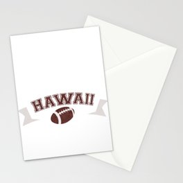 Just a Baller from Hawaii Football Player Stationery Cards