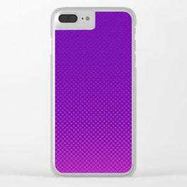 Purple halftone Clear iPhone Case