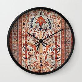 Tabriz Azerbaijan Northwest Persian Silk Rug Print Wall Clock