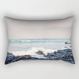 Rugged Hawaiian Coast Rectangular Pillow