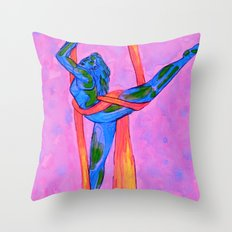 Gift-wrapped Globe Throw Pillow