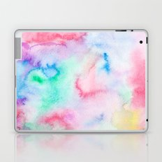 Bright abstract pink blue hand painted watercolor Laptop & iPad Skin