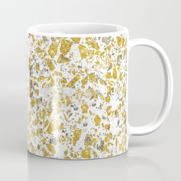 Real gold granite terrazzo pattern Coffee Mug