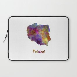 Poland in watercolor Laptop Sleeve