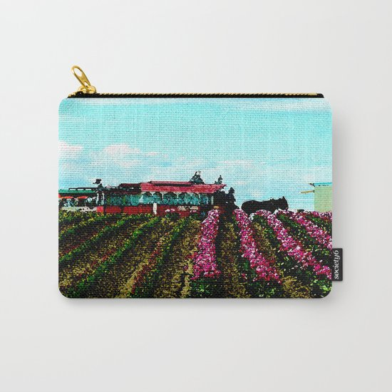 Mule Rides Through The Tulips Carry-All Pouch