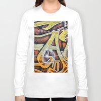 graffiti Long Sleeve T-shirts featuring Graffiti by Fine2art