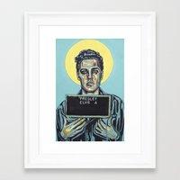 elvis presley Framed Art Prints featuring Presley, Elvis by Natalie Bessell