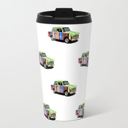 Retro Car Pattern Travel Mug