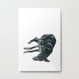 Dog-Tired Metal Print